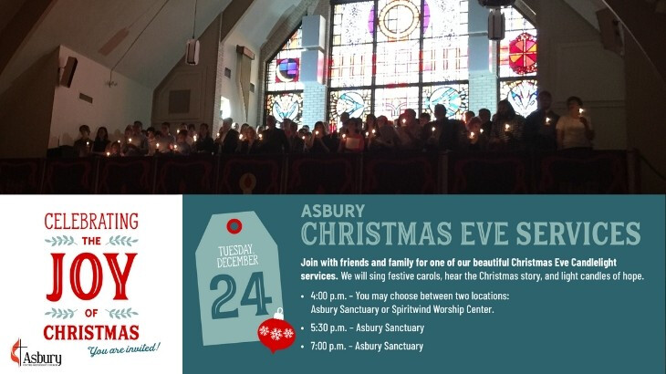 Christmas Eve Candlelight Service - 5:30 - Sanctuary