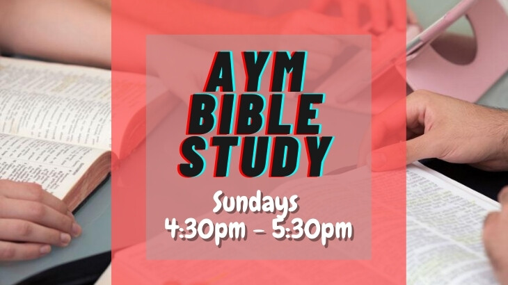 Youth Bible Study (new time/procedures)