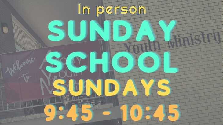 Youth Sunday School (In Person)