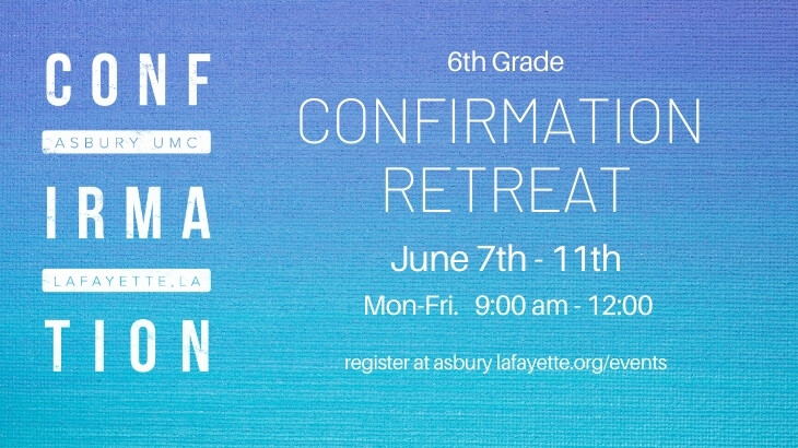 6th Grade Confirmation Retreat