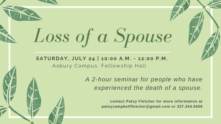 Loss of a Spouse GriefShare Seminar