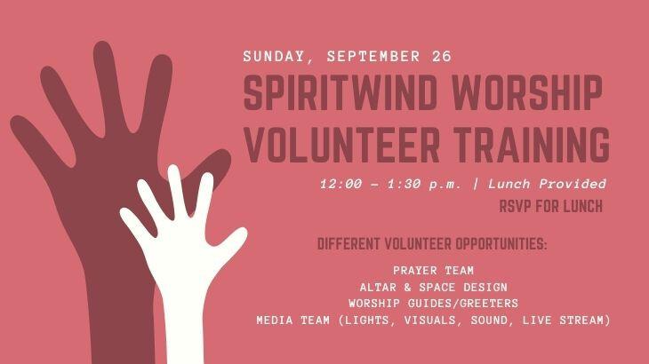 Spiritwind Worship Volunteer Training