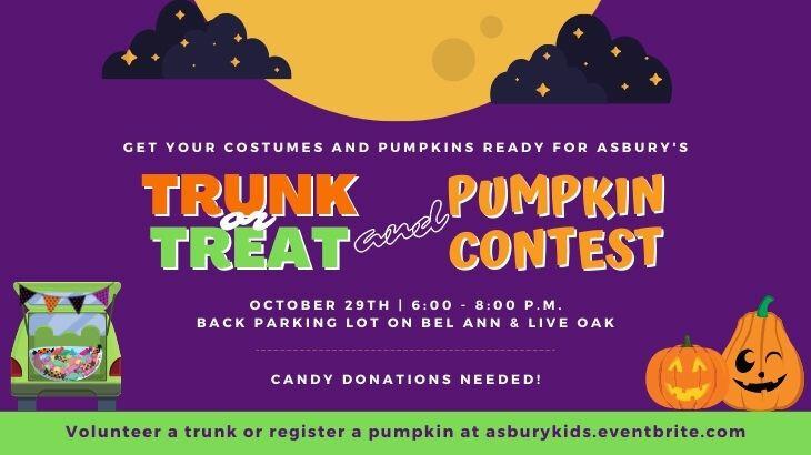 Trunk or Treat & Pumpkin Pageant